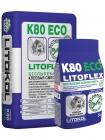 Беспылевой клей для керамогранита LITOFLEX K80 eco